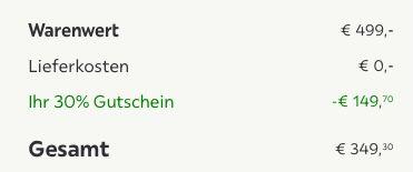 Schwebetürenschrank in Weiß Hochglanz (225cm breit) für 349,30€ (statt 499€)