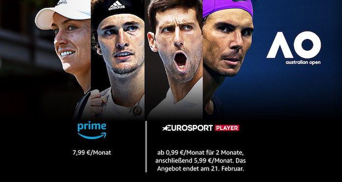Amazon Eurosport Player für 2 Monate für 0,99€ mtl (statt 12€)   nur für Prime