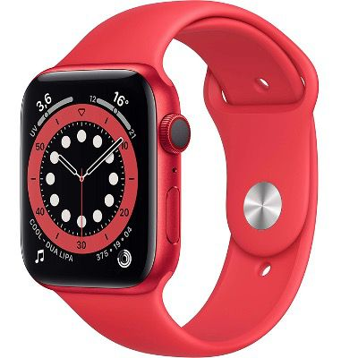 Apple Watch Series 6 (GPS + LTE) mit 44mm in Rot für 402,94€ (statt 499€)