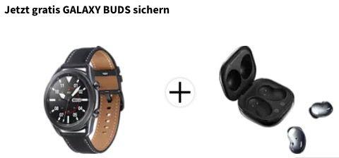 Samsung Galaxy Watch 3 (45mm, Mystic Black) + Galaxy Buds Live für 239€ (statt 337€)