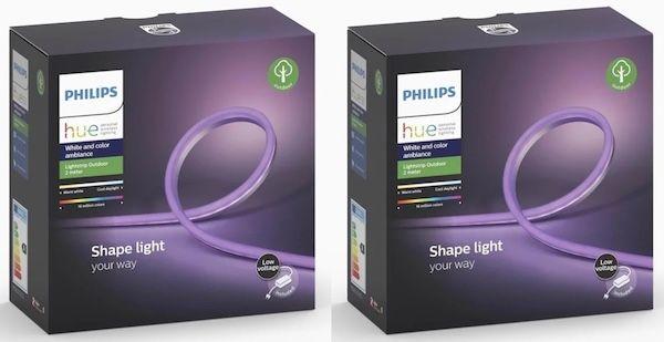 2er Pack Philips Hue Outdoor LightStrip (je 5m) + Bridge für 264,49€ (statt 349€)