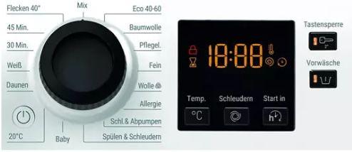 Bauknecht WM 9 M100 Waschmaschine (9 kg, 1400 U/Min.) ab 312€ (statt 409€)