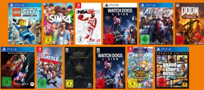 3 Games für 49€ (auch PS5)   z.B. 3x Watch Dogs: Legion (PS5) ab 49€ (statt 75€)