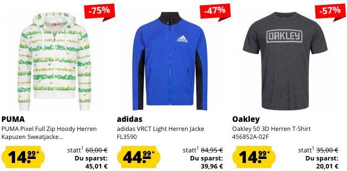 Nur heute: 10% Extra Rabatt bei SportSpar auf alle Herren Artikel   adidas, Nike etc.
