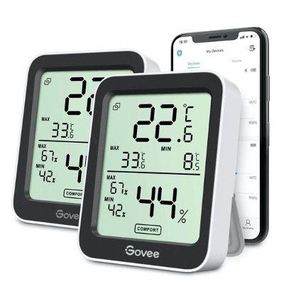 2x Govee H5075 Thermo  & Hygrometer für 18,74€ (statt 25€)   Prime