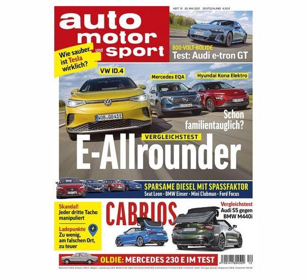 Jahresabo Auto Motor und Sport mit 27 Ausgaben für 122,30€ + Prämie: bis 120€ Gutschein