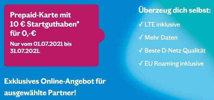 Kostenlose Telekom Lebara SIM mit 10€ Startguthaben