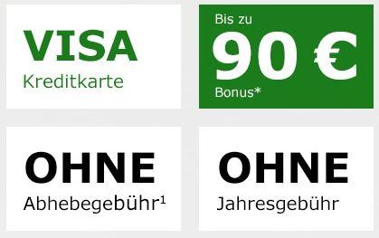 🔥 Schwarze Visa Kreditkarte komplett beitragsfrei (ein Leben lang) + 70€ Startguthaben + 20€ für geworbene Freunde