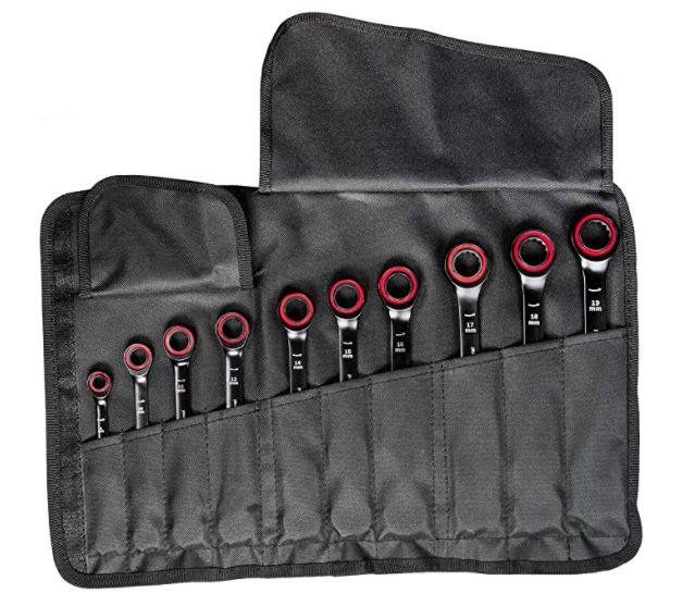 Bosch Professional 10 tlg. Ring Maulschlüssel Satz mit Ratschenfunktion für 65,33€ (statt 86€)
