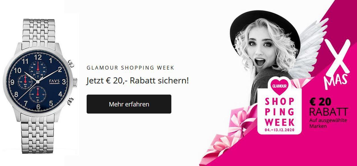 Christ Shopping Week mit 20€ extra Rabatt auf ausgewählte Uhren und Schmuck
