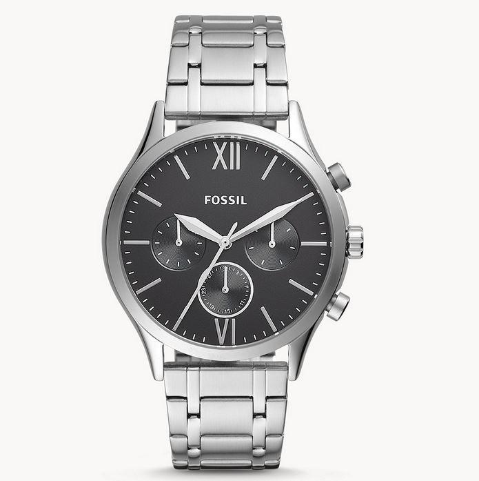 Fossil Fenmore Herren Multifunktions Edelstahl Uhr Schwarz für 59€ (statt 139€)