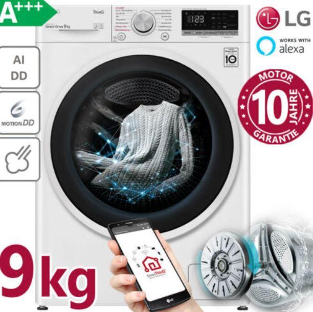 LG F4 VT4W9KG – Ki Waschmaschine mit App und Alexa Anbindung bis 9kg A+++ für 399,90€ (statt 569€)