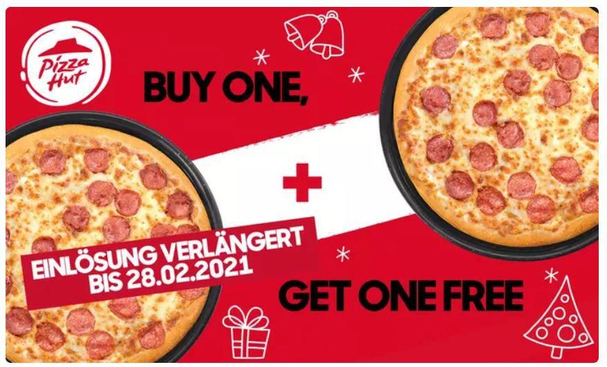 Pizza Hut: 2 für 1 Pizza Coupon für 0,85€