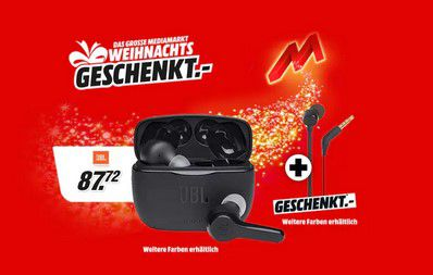 JBL Tune 215TWS True Wireless Kopfhörer + JBL T160 In Ear Kopfhörer für 87,72€ (statt 110€)