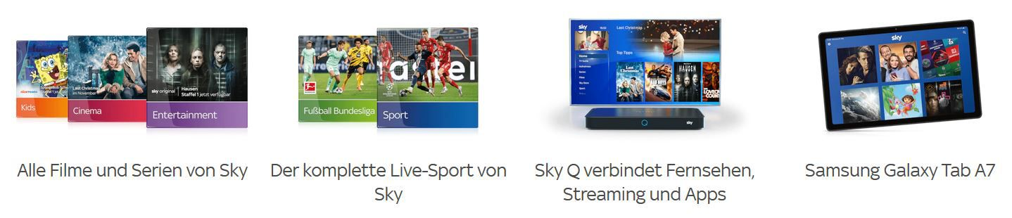 Sky Winter Sale: Alles von Sky für 45€ mtl. + gratis Samsung Galaxy Tab A7 (Wert 190€)