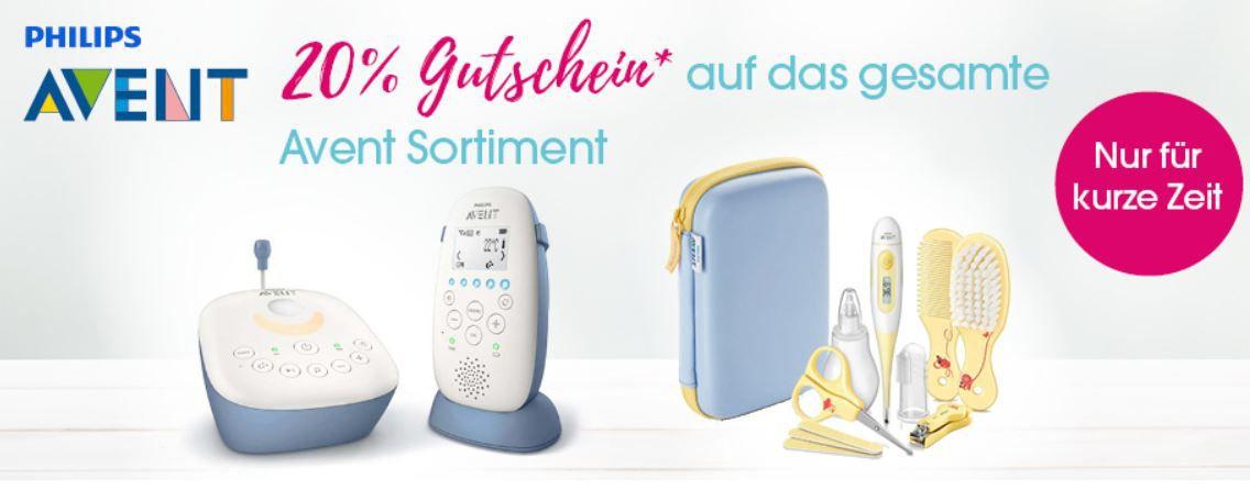 Babymarkt: Philips Avent mit 20% Rabatt z.B. Avent DECT Babyphone SCD502 für 33,52€ (statt 46€)
