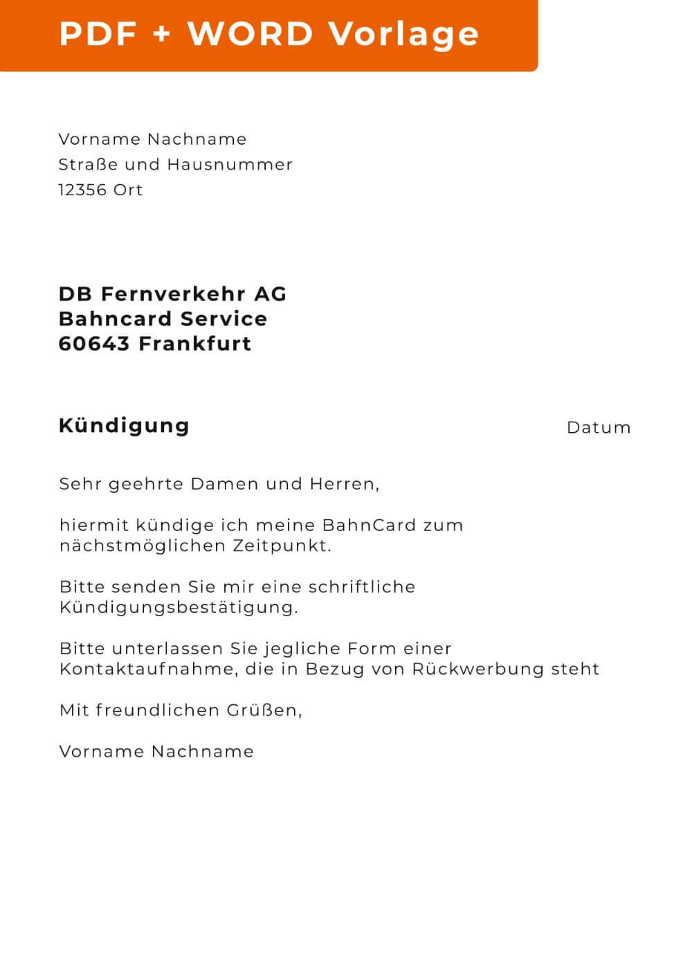 Bahncard Und Probe Bahncard Kundigen Online 5