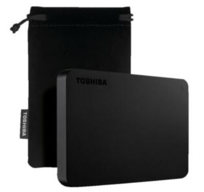 TOSHIBA Canvio Basics Exclusive   2,5 Festplatte mit 2TB für 59€ (statt 74€)
