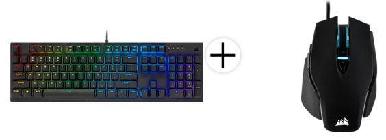 Corsair K60 RGB PRO Mechanische Gaming Tastatur + CORSAIR M65 RGB ELITE Gaming Maus für 125,50€ (statt 195€)