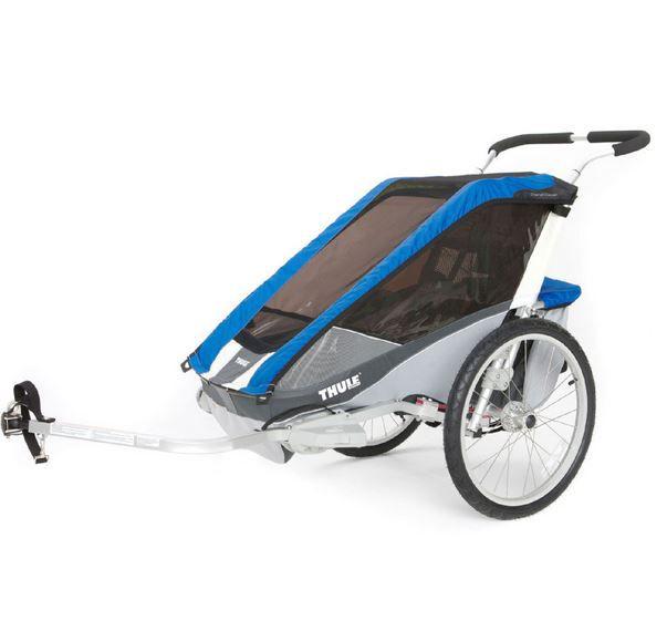 THULE Kinderfahrradanhänger Chariot Cougar 1 in blau und rot für 464,99€ (statt 755€)