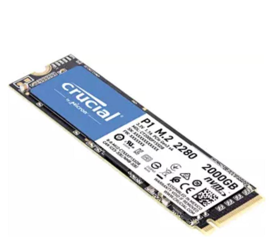 Crucial P1 2TB interne SSD PCIe NVMe M.2 für 179€ (statt 199€)