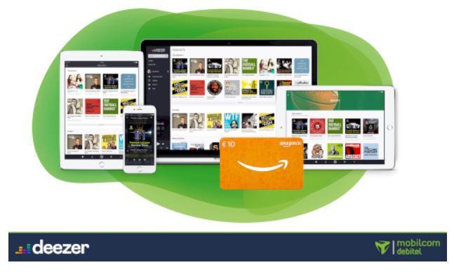 Deezer Premium 24 Monats Abo für 7,07€ mtl. (statt 9,99€)