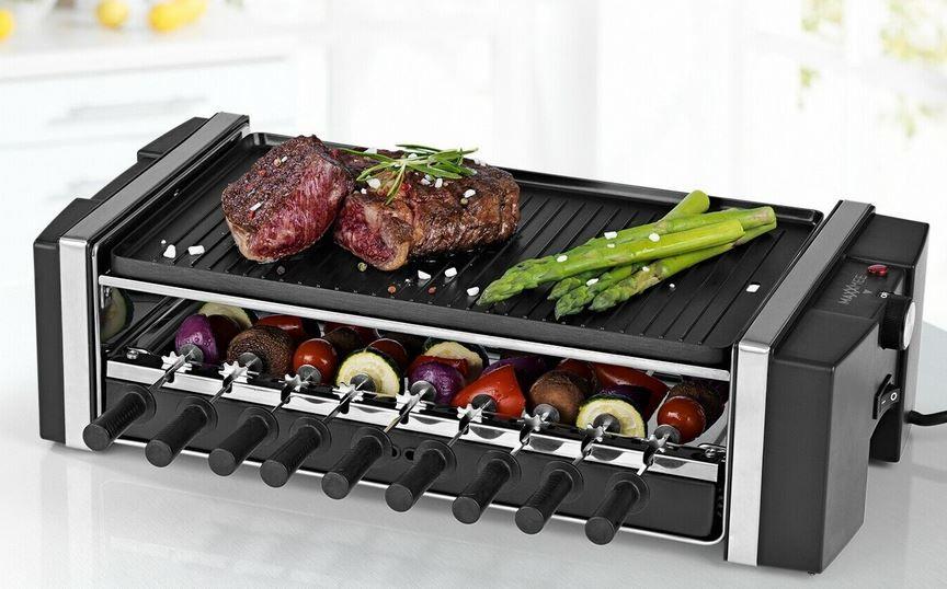 GOURMETmaxx Multi Raclette Dreh Grill 3in1 für 49,99€ (statt 65€)
