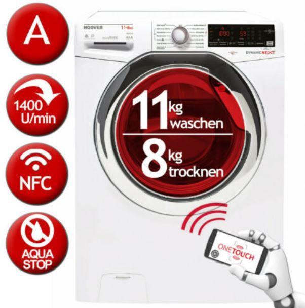HOOVER Dynamic Next WDXOA 11/8kg Waschtrockner für 379,90€ (statt 436€)