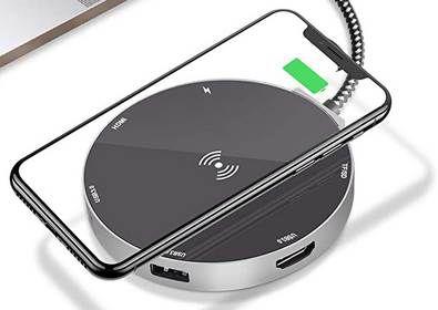 ERGO LIFE USB C Hub & 10W Qi Ladegerät für 9,99€ (statt 20€)