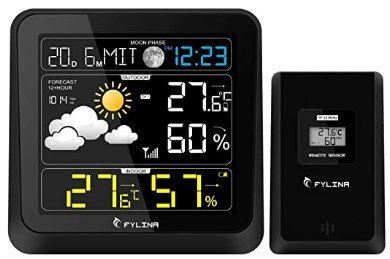 Fylina Funk Wetterstation mit Farbdisplay & Außensensor für 9,99€ (statt 20€)   Prime