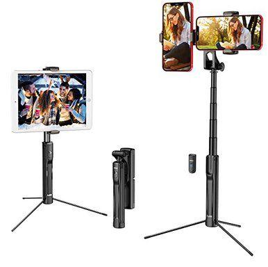 Mpow 4in1 Selfie Stick mit 2 Adaptern für Smartphones für 15,99€ (statt 25€)   Prime