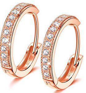 NINAMISS Damen-Ohrringe aus 925er Silber mit Zirkonia für 9,99€ (statt 22€) – Prime