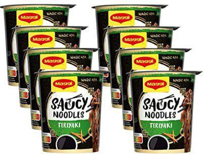 8x Maggi Magic Asia Saucy Noodles Teriyaki Cup ab 4,74€   Prime