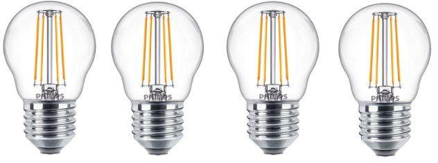 4er Pack: Philips E27 LED Glühbirne mit 4,3W in warmweiß für 9,99€ (statt 20€)
