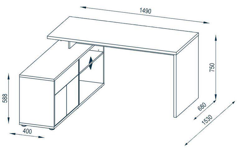 Maja Eck Schreibtisch für 165,75€ (statt 265€)