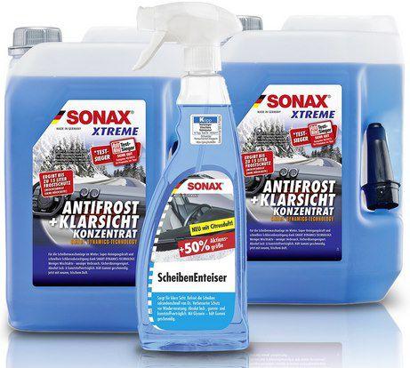 2x 5L Sonax Xtreme AntiFrost & KlarSicht Konzentrat + Scheibenenteiser (750ml) für 31,19€