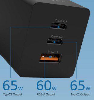 iLepo USB-C 65W Ladegerät mit PD 3.0 & QC 3.0 für 21,59€ (statt 36€)