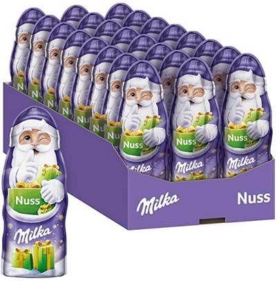 24 x 45g Milka Weihnachtsmänner mit Nuss für 9,99€   Prime