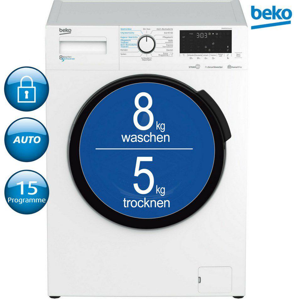BEKO WDW 85141 Steam Waschtrockner für 359,91€ (statt 628€)