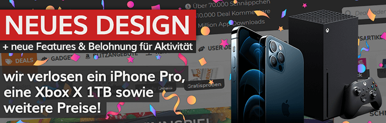 Gewinnspiel   neues Design + neue Features + Belohnung für Aktivität   z.B. iPhone 12 Pro, Xbox Series X & mehr!