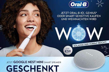 Beim Kauf einer elektrischen Oral B Zahnbürste ein Google Nest Mini gratis