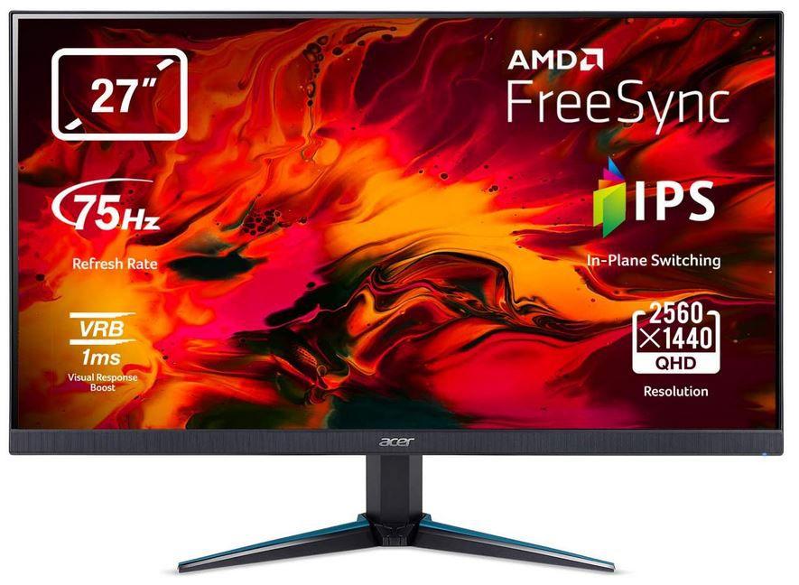 Acer Nitro VG270Ubmiipx 27 Zoll WQHD Gamer Monitor für 212,89€ (statt 265€)