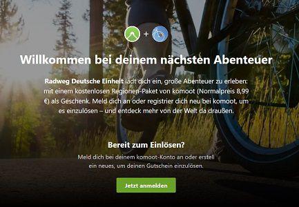 Komoot: Auf dem Radweg Deutsche Einheit ein Regionen Paket gratis (statt ab 9€)