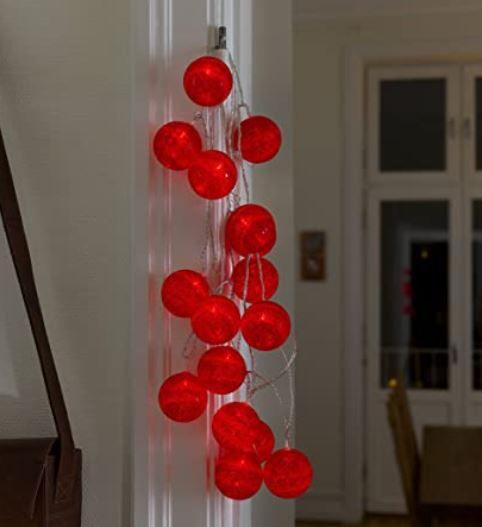 Konstsmide rote LED Dekolichterkette für 11,11€ (statt 37€)
