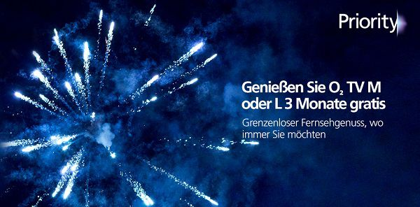 o2 TV M und o2 TV L drei Monate gratis oder O2 TV Türkei einen Monat gratis