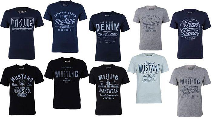 4er Pack Mustang Herren T Shirts mit Frontprint für 31,96€ (statt 68€)