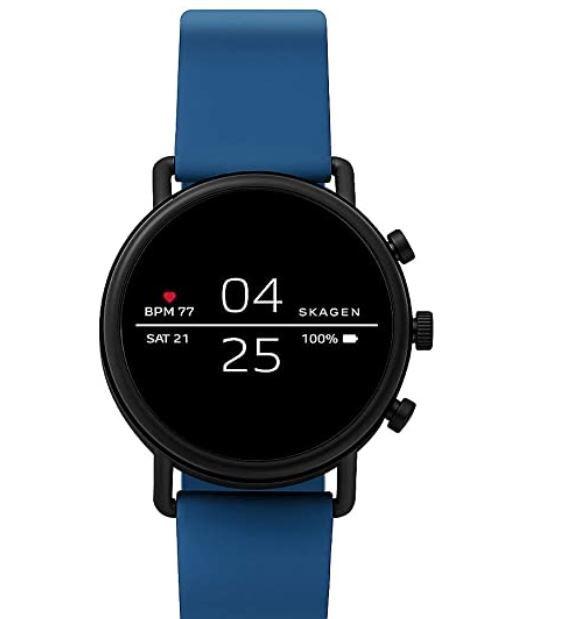 Skagen Falster 2   Smartwatch Silikon Schwarz, Blau o. Rot für je 99€ (statt 192€)