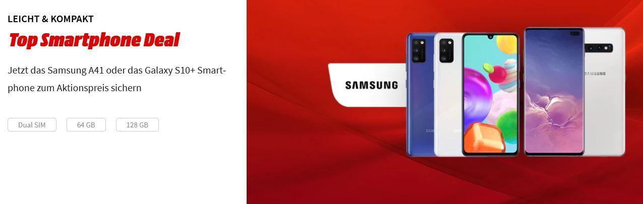 Media Markt + Saturn Top Smartphone Deals   z.B. SAMSUNG Galaxy S10+ 128GB für 434,51€ (statt 565€)