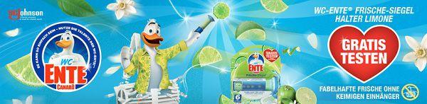 WC Ente® Frische Siegel Halter Limone gratis ausprobieren