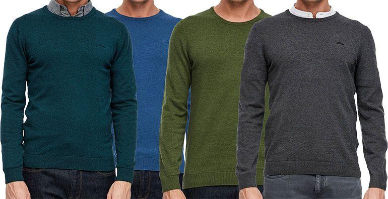 s.Oliver Casual Men noos Pullover mit Logo Stitching für 18,89€ (statt 27€)